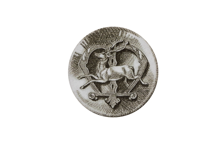 Bouton de courtoisie - Don de M. A.-P. Baudesson à la Société de Vènerie