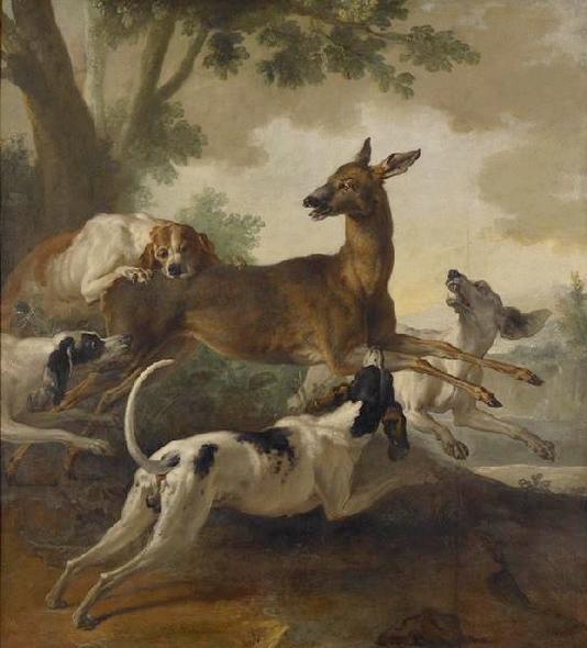 La chasse au chevreuil - 1725 - © Joconde - Musée des Beaux-Arts de Rouen - Carole Loisel - Catherine Lancien