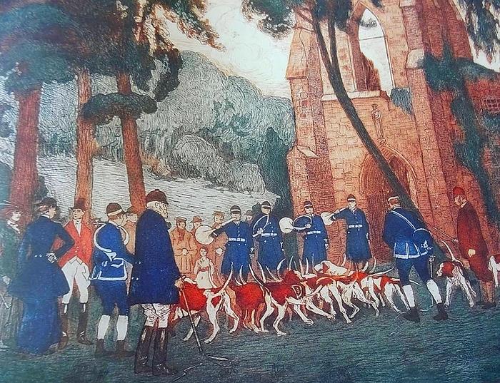 L'équipage du Duc de Chartres - Société de Vènerie