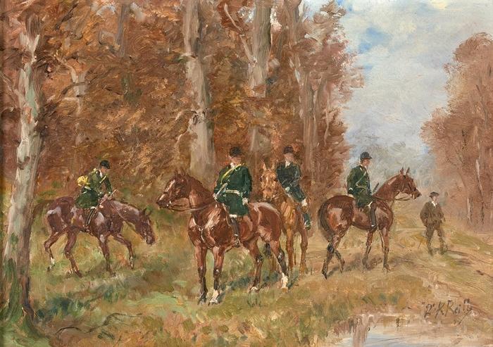 Le Rallie Beaumont par Karl Reille - Don de M. Y. de Meynard à la Société de Vènerie