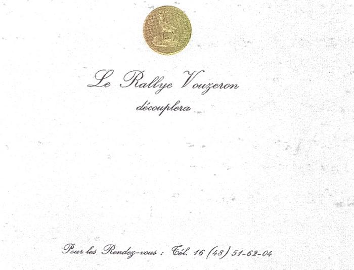 Rallye Vouzeron - Tiré de l'ouvrage Deux Siècles de Vènerie à travers la France - H. Tremblot de la Croix et B. Tollu (1988)