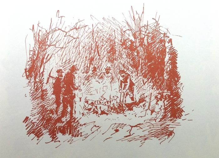 Prise d'un blaireau par le comte d'Osmond - Tirée de Les Hommes des Bois (2008) - R. d'Osmond - Bibliothèques des introuvables (Paris)