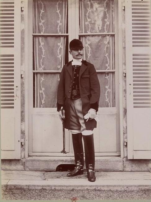 G. Berthier - Tiré de l'ouvrage L'Equipage du marquis de Chambray - Photos de Maurice de Gasté (1894) - Bnf (Gallica)