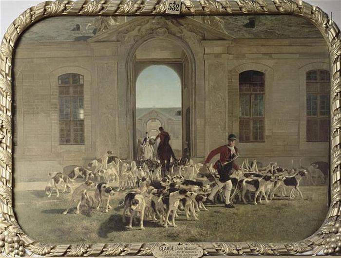 La meute sortant des Grandes Ecuries - 1865 - © Joconde - Chantilly - Musée Condé