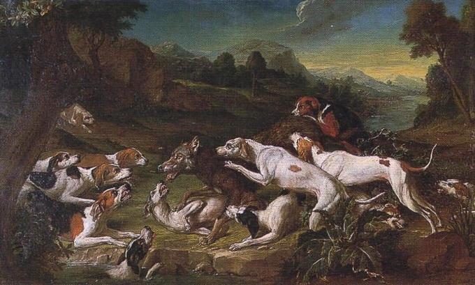 Chasse au loup - 1751 - © Joconde - Senlis - Musée de la Vènerie (Francis Vidal)
