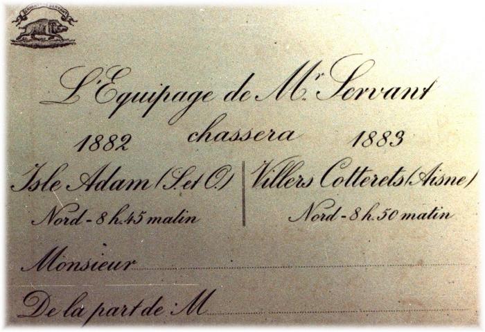Don de A.-P. Baudesson à la Société de Vènerie