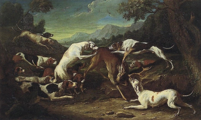 Chasse au daim - 1751 - © Joconde - Senlis - Musée de la Vènerie