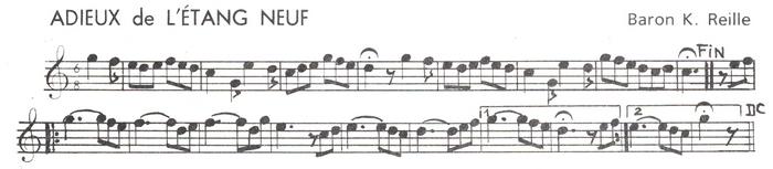 Les Adieux de l'Etang Neuf - Composée par K. Reille