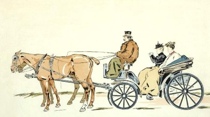 Illustration de Philippe Roque tirée de de l'ouvrage L'Equipage du Francport paru en 1910 - Société de Vènerie (3)