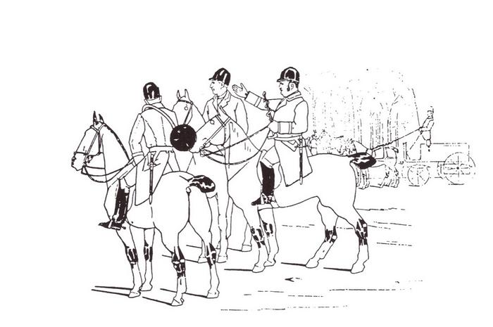 Equipage des Martins - Rallye Plessis - Tiré de l'ouvrage Deux Siècles de Vènerie à travers la France - H. Tremblot de la Croix et B. Tollu (1988) - 2