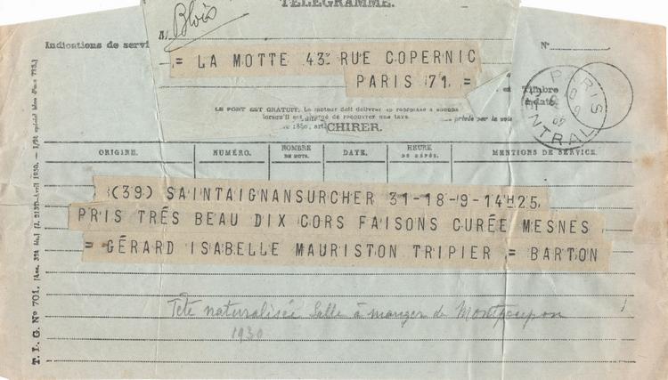 Correspondance - 1930