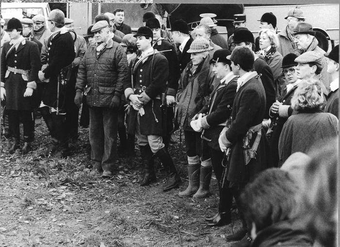 26 décembre 1992 - Le rapport - Photo de Georges Hallo - Don de M. J.-G. Hallo à la Société de Vènerie