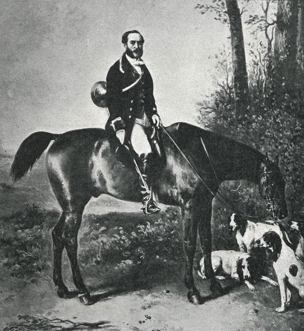 Le Baron Joseph de Carayon-Latour - Illustration tirée de l'ouvrage La Chasse à travers les Âges - Comte de Chabot (1898) - A. Savaète (Paris) - BnF (
