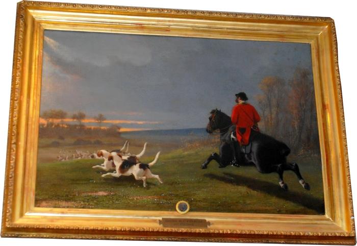 Louis-Robert Heyrault - Une chasse du comte d'Osmond - Collection particulière
