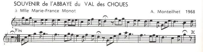 Souvenir de l'Abbaye du Val des Choues