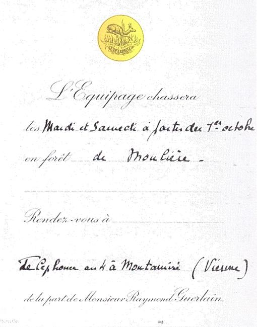 Equipage Guerlain - Tiré de l'ouvrage Deux Siècles de Vènerie à travers la France - H. Tremblot de la Croix et B. Tollu (1988)