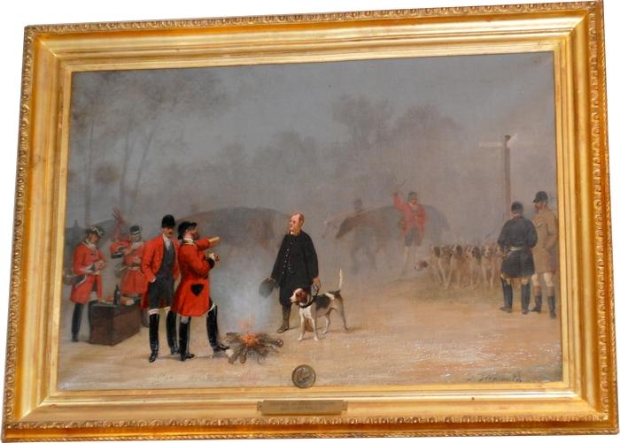 Louis-Robert Heyrault - Rendez-vous lors d'une chasse du comte d'Osmond - Collection particulière