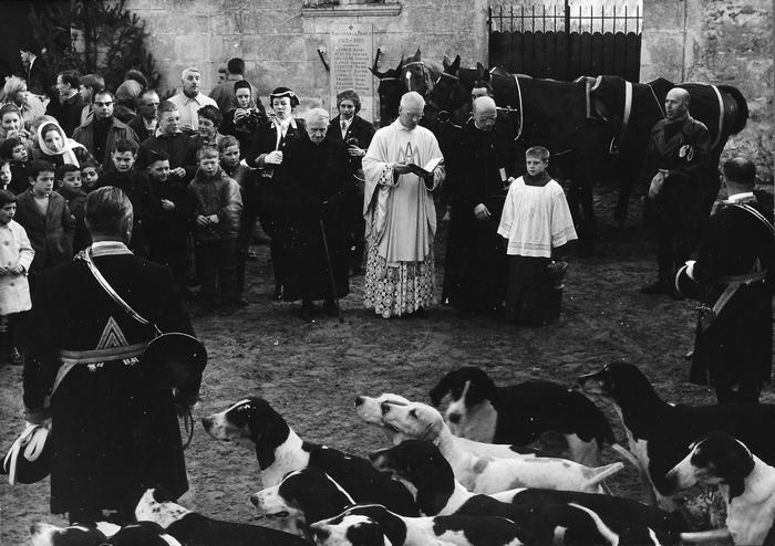 28 novembre 1964 - Fontaine-Chaalis - Photo de Georges Hallo - Don de M. J.-G. Hallo à la Société de Vènerie