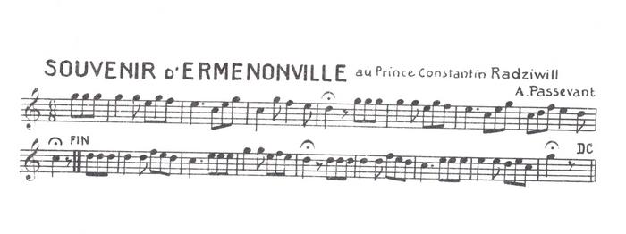 Souvenir d'Ermenonville