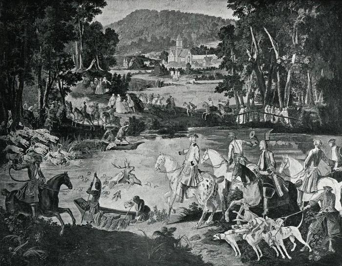 Tapisserie des Gobelins 2 - Illustration tirée de l'ouvrage La Chasse à travers les Âges - Comte de Chabot (1898) - A. Savaète - (Gallica)