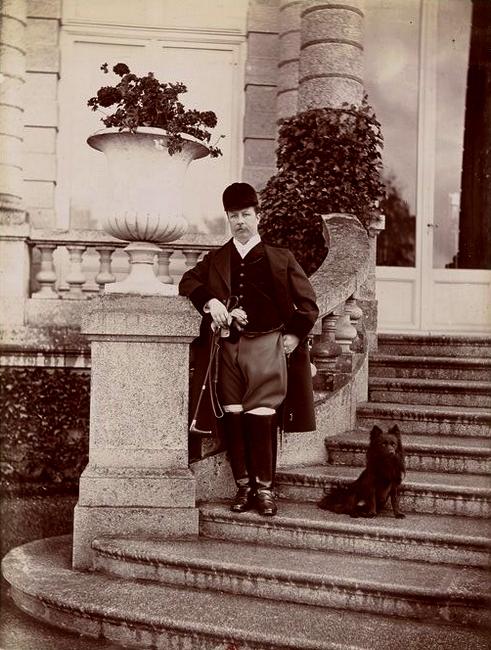 Le comte Le Marsis - Tiré de l'ouvrage L'Equipage du marquis de Chambray - Photos de Maurice de Gasté (1894) - Bnf (Gallica)