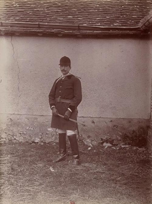 Le vicomte de Fayet - Tiré de l'ouvrage L'Equipage du marquis de Chambray - Photos de Maurice de Gasté (1894) - Bnf (Gallica)