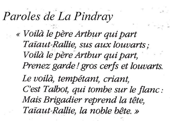 Paroles de La Pindray
