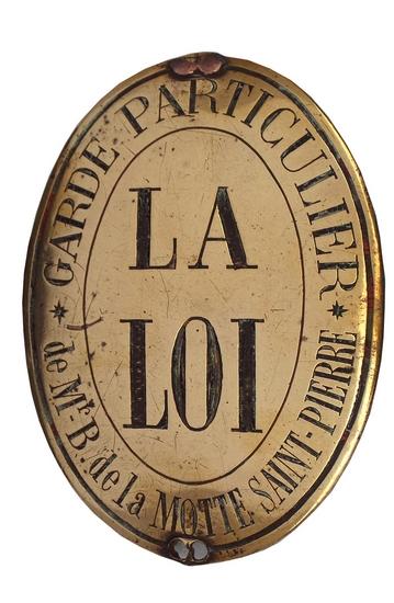 Plaque de gardes de Montpoupon - © Archives du Château de Montpoupon
