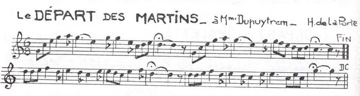 Le Départ des Martins