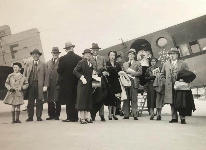 Embarquement pour Londres - Le Bourget - 28 septembre 1932 - Don de M. C. Cheramy à la Société de Vènerie