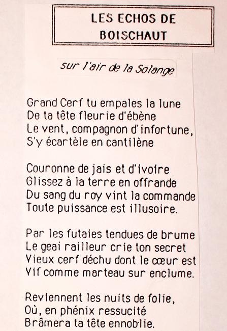 Paroles des Echos de Boischaut (2)