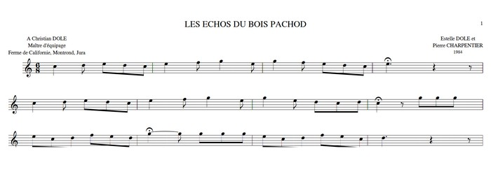 Les Echos du Bois Pachod ♫