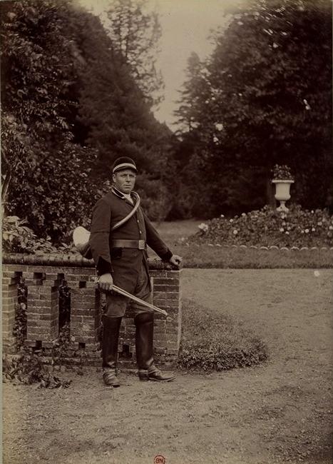 La Feuille - Tiré de l'ouvrage L'Equipage du marquis de Chambray - Photos de Maurice de Gasté (1894) - Bnf (Gallica)