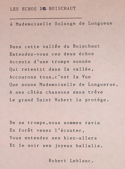 Paroles des Echos de Boischaut