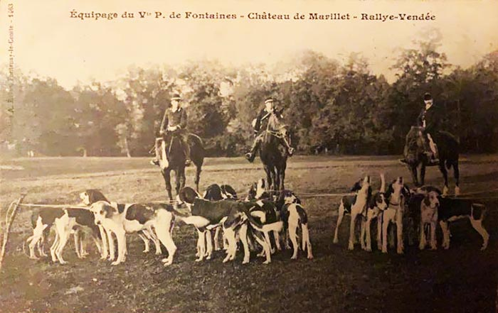 Carte postale (1900-1914) - Société de Vènerie - Equipage de Marillet