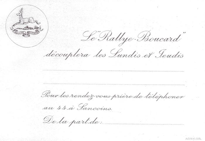 Rallye Boucard - Tiré de l'ouvrage Deux Siècles de Vènerie à travers la France - H. Tremblot de la Croix et B. Tollu (1988)