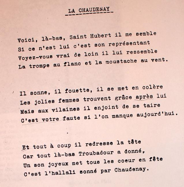 Paroles de La Chaudenay (3)