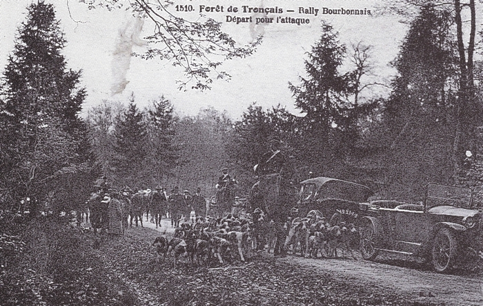 Rallye Bourbonnais - Tiré de l'ouvrage Deux Siècles de Vènerie à travers la France - H. Tremblot de la Croix et B. Tollu (1988)