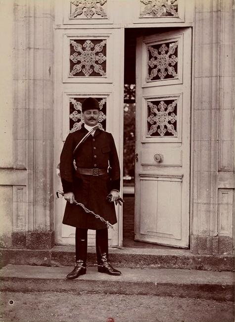Le comte Gicquel des Touches - Tiré de l'ouvrage L'Equipage du marquis de Chambray - Photos de Maurice de Gasté (1894) - Bnf (Gallica)