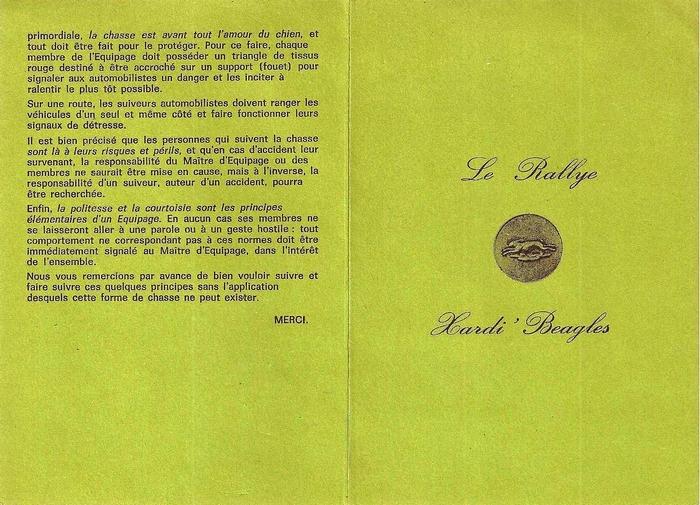 Code de bonne conduite 2/2 - Don de M. P. Verro à la Société de Vènerie