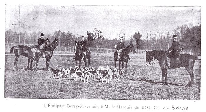 Equipage Berry Nivernais - Tiré de l'ouvrage Deux Siècles de Vènerie à travers la France - H. Tremblot de la Croix et B. Tollu (1988)