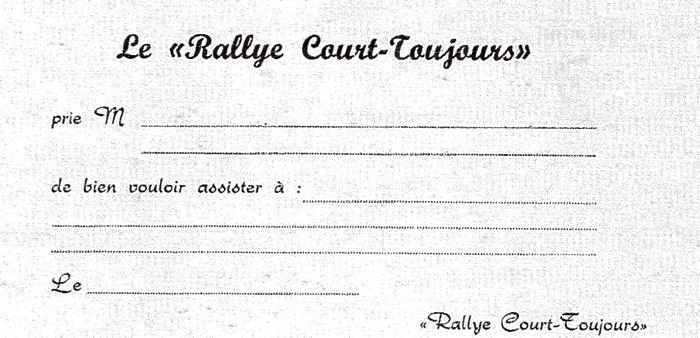 Rallye Court Toujours - Tiré de l'ouvrage Deux Siècles de Vènerie à travers la France - H. Tremblot de la Croix et B. Tollu (1988)