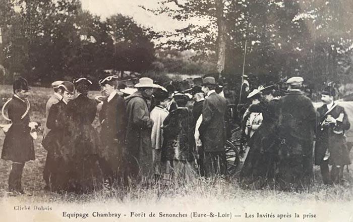 Carte postale (1900-1914) - Don à la Société de Vènerie - Chambray