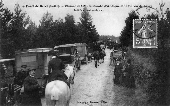 Trois équipages (Champchevrier, Rallyes Bercé et Sapinette) en forêt de Bercé - Don de M. P. Mauranges à la Société de Vènerie - 3