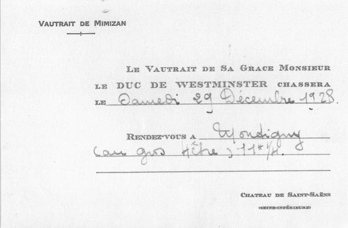 Collection particulière - Don à la Société de Vènerie - M. M. Berge (2)