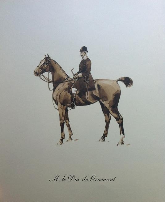 Le duc de Gramont - Illustration tirée de l'ouvrage La Vénerie française contemporaine (1914) - Le Goupy (Paris)