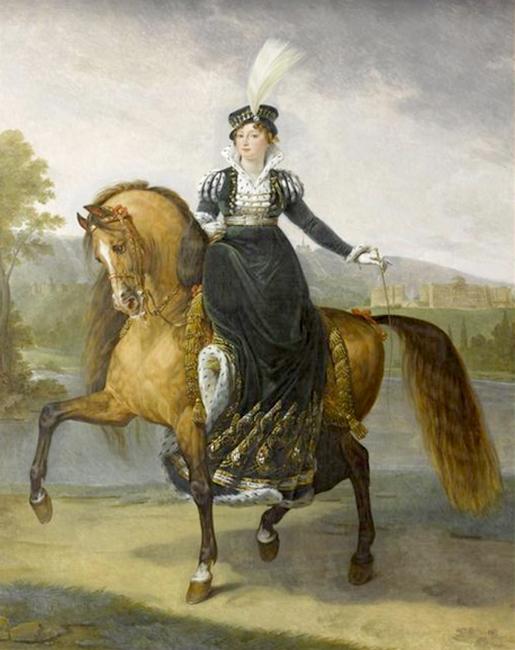 La reine Catherine de Westphalie en tenue de chasse - 1811 - Château de Versailles