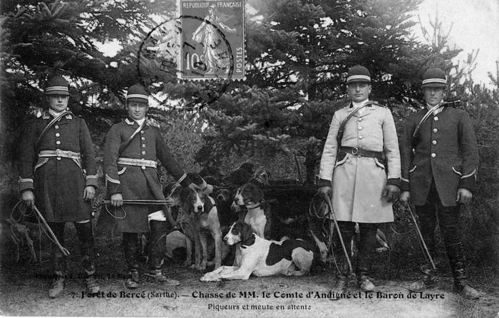 Trois équipages (Champchevrier, Rallyes Bercé et Sapinette) en forêt de Bercé - Don de M. P. Mauranges à la Société de Vènerie - 4