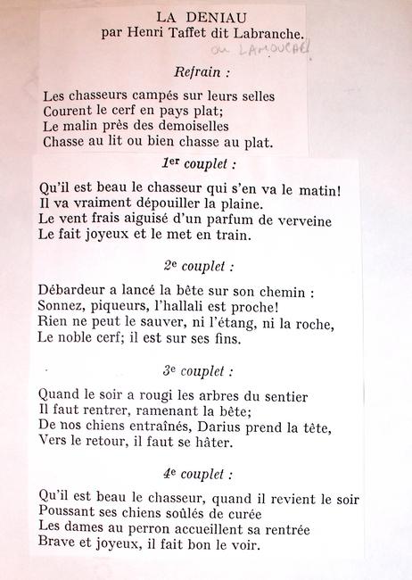 Paroles de La Deniau (2)