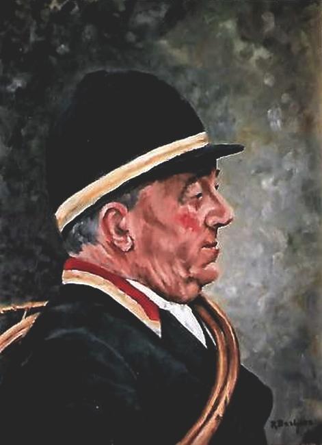 Hubert Colladant par René Barbier-Petit - Don de M. P. Verro à la Société de Vènerie